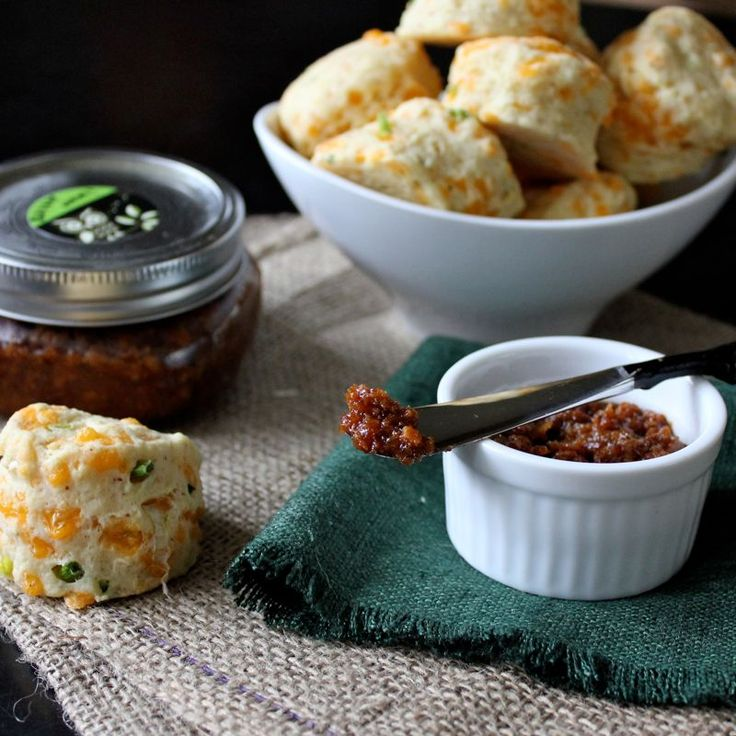 Bacon Jam and Cheddar Biscuits. Yep, Bacon jam