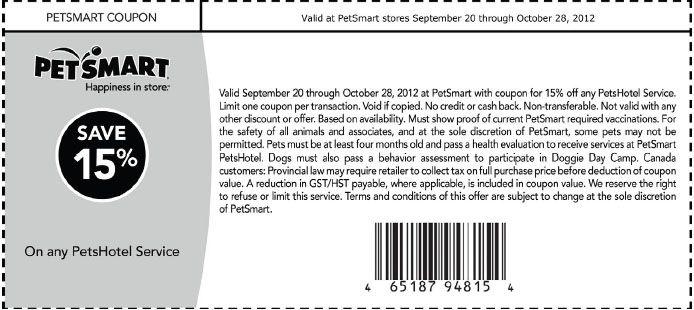 Petsmart hotel coupons december 2018