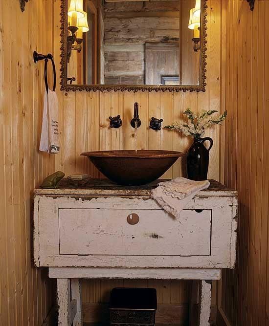 Rustic sink Laundry Pinterest