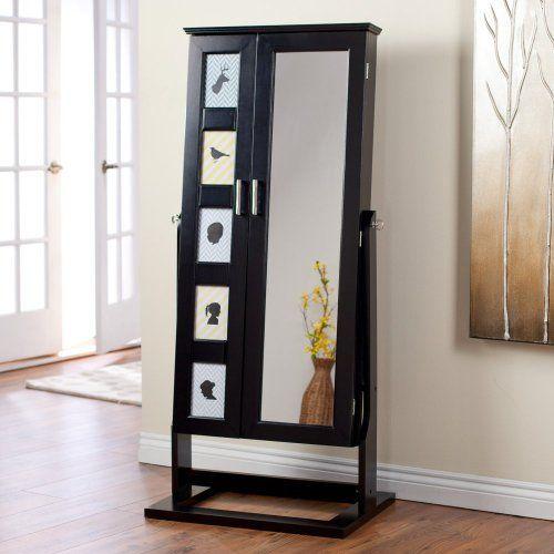 Full Length Mirror Jewelry Box | Floor Mirror Jewelry Armoire | Pinte .