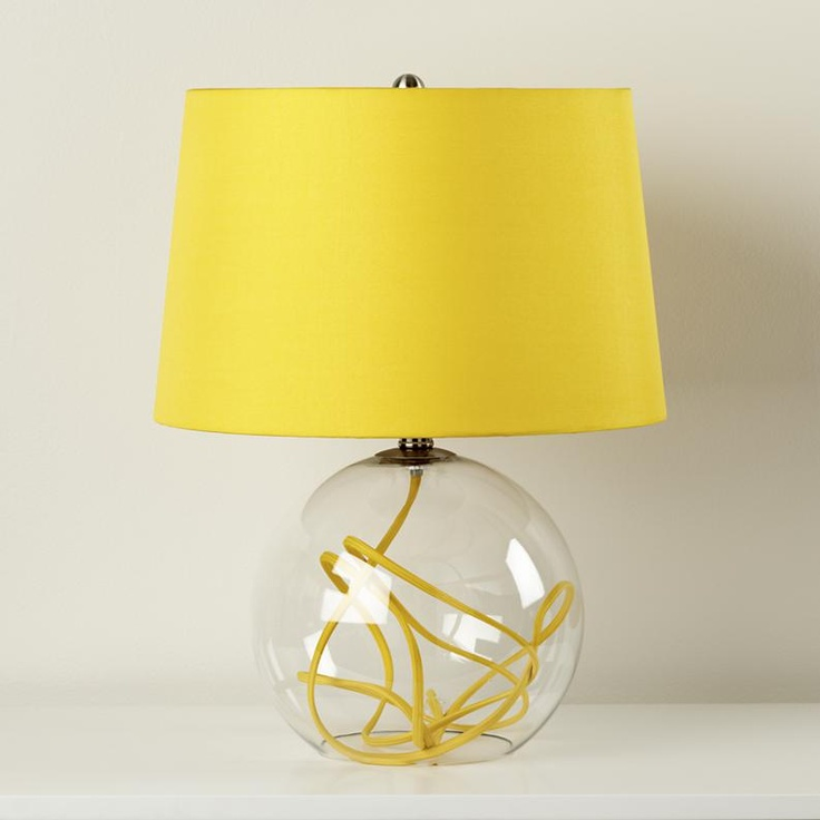 yellow crystal ball table lamp more sparkle pinterest. Black Bedroom Furniture Sets. Home Design Ideas