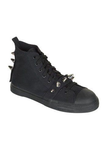 Steel Toe Black High Top Shoes