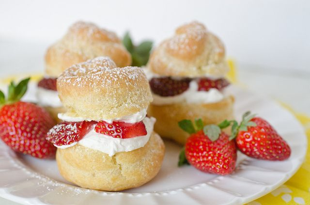 Cream Puffs filled with Strawberry and Mascarpone | Recipe