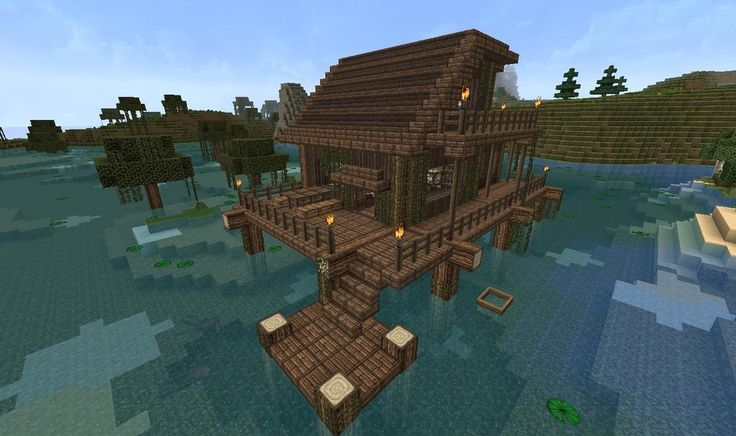 Swamp house wow now i wanna make this video games for Beach house designs minecraft