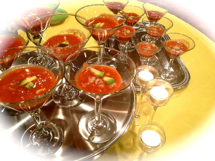 Avocado Shrimp Gazpacho | Innovative Food Ideas: Chef Bob's Catering ...