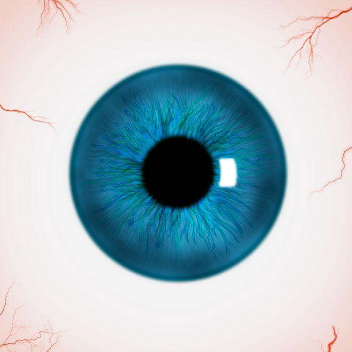 Глаз с рисунком в зрачке