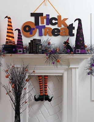 Gotta make witch legs for our fireplace!! SO CLEVER!!!