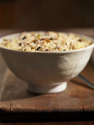 Curry Quinoa Salad with Cranberries and Almonds on Green BEAN Delivery ...