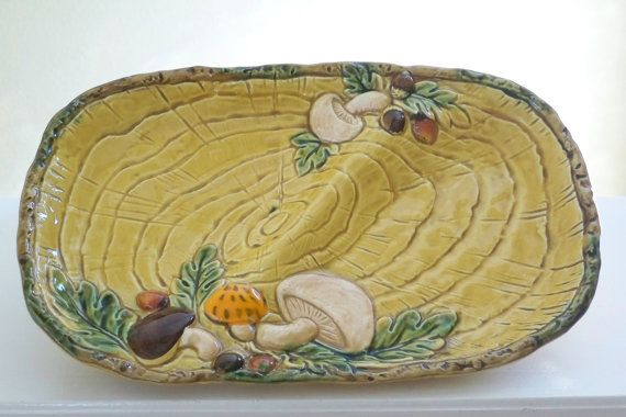 Vintage Geo Z Lefton ceramic divided platter by Timebanditvintage, $25.00