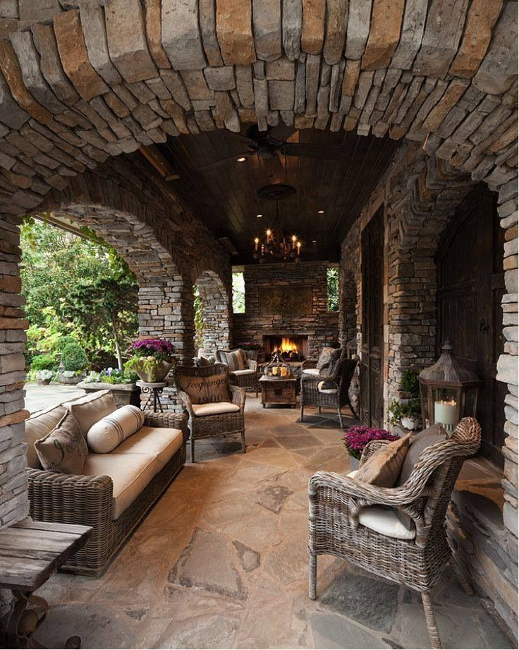 Backyard Living Space : Arched outdoor room  outdoor living  Pinterest