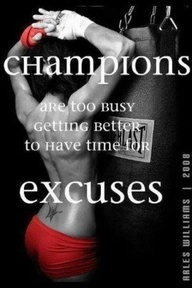 Champions are too busy!