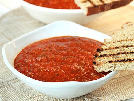 Roasted Red Pepper and Quinoa Soup | Soup Du Jour | Pinterest