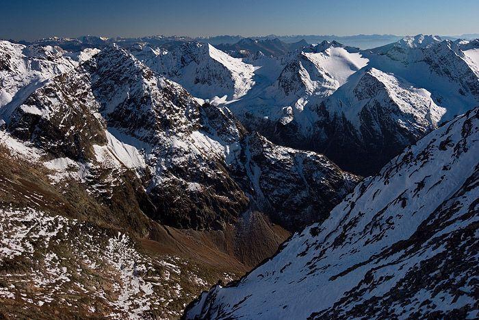 Fotografie horská krajina rakouské alpy krajina stubaiských alp