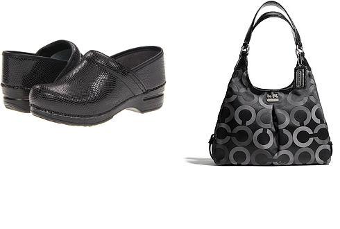 New coach bag & Dansko shoes
