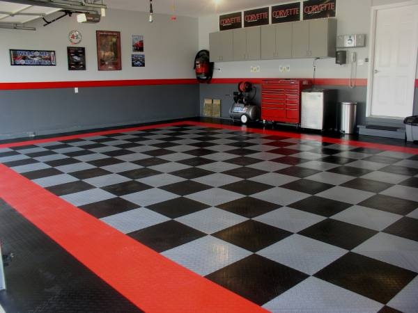 Pin by brian crum on feels like home pinterest for Man cave garage floor ideas