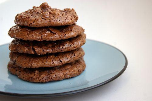 Flourless Chocolate Walnut Cookies | Yummy in My Tummy | Pinterest