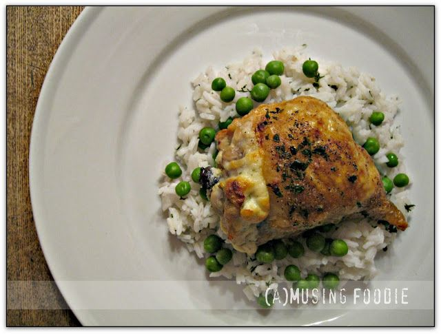 roast chicken thighs stuffed with garlic and herb goat cheese