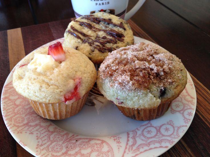 cream cheese muffin made with fresh strawberries chocolate chip muffin ...