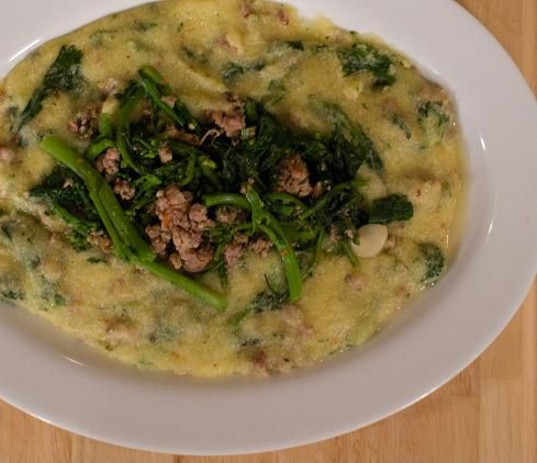 polenta, hot sausage and broccoli rabe | Food, food and more food ...