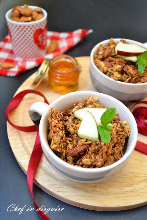 Apple cinnamon granola   Breakfast Time   Pinterest