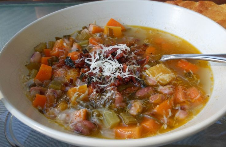 Bean and bacon soup | Soup | Pinterest