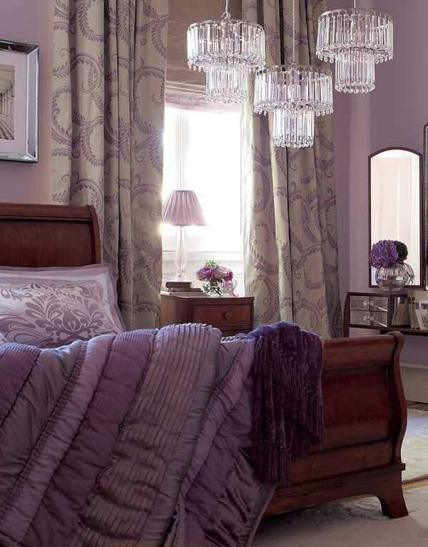 Amethyst purple romantic bedroom color scheme amethyst for Romantic purple bedroom