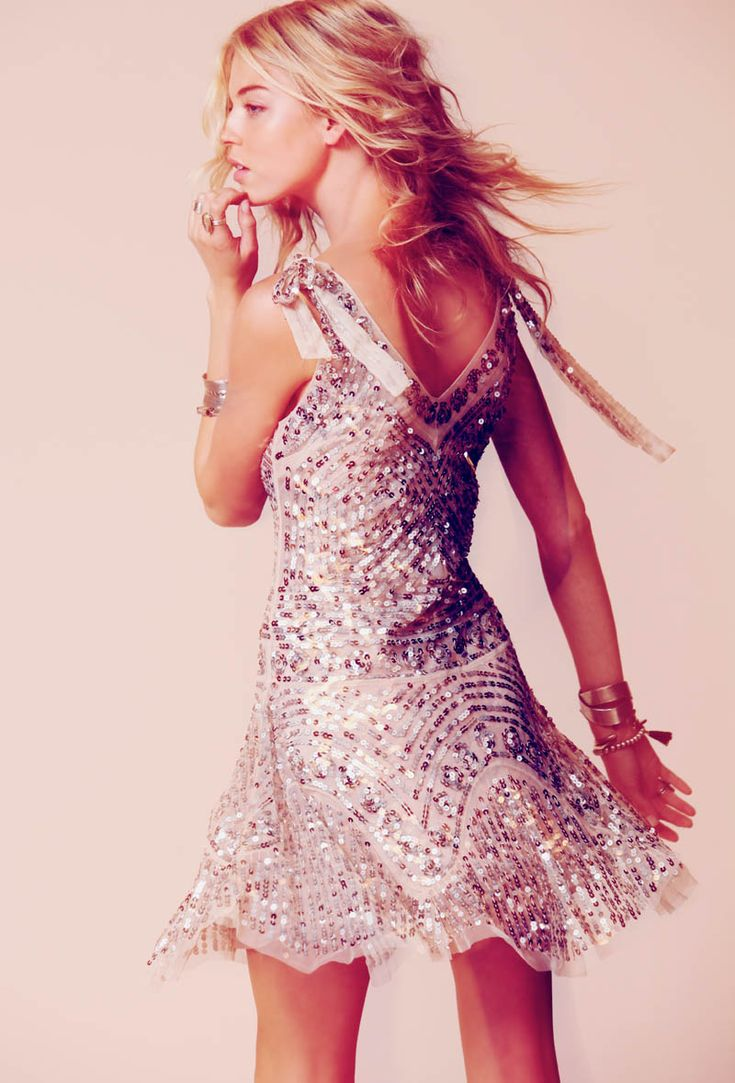 Martha Hunt Sparkles in Free Peoples Occasion Line of Dresses