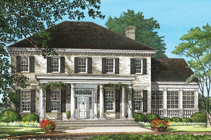 Southern colonial houseplan 7922 00037 colonial house for Southern colonial floor plans