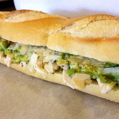 Avocado Sandwich:Homemade guacamole, sun-dried tomatoes, bacon, and ...