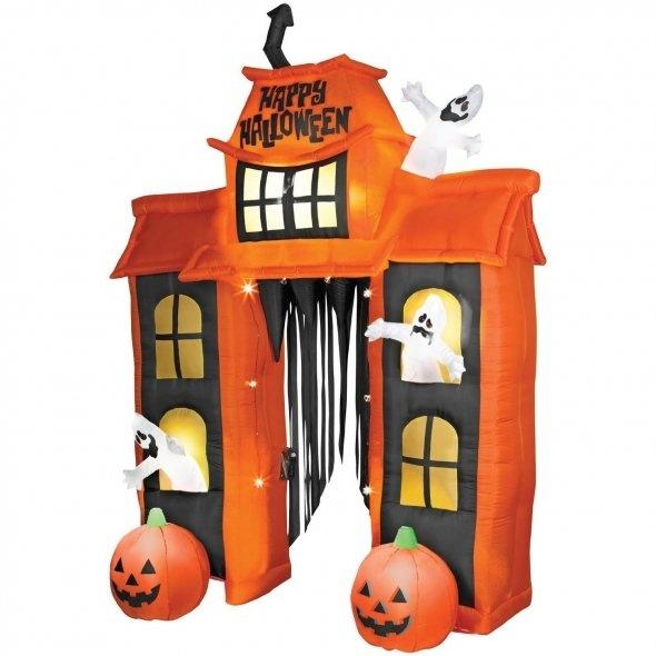 halloween inflatables skull