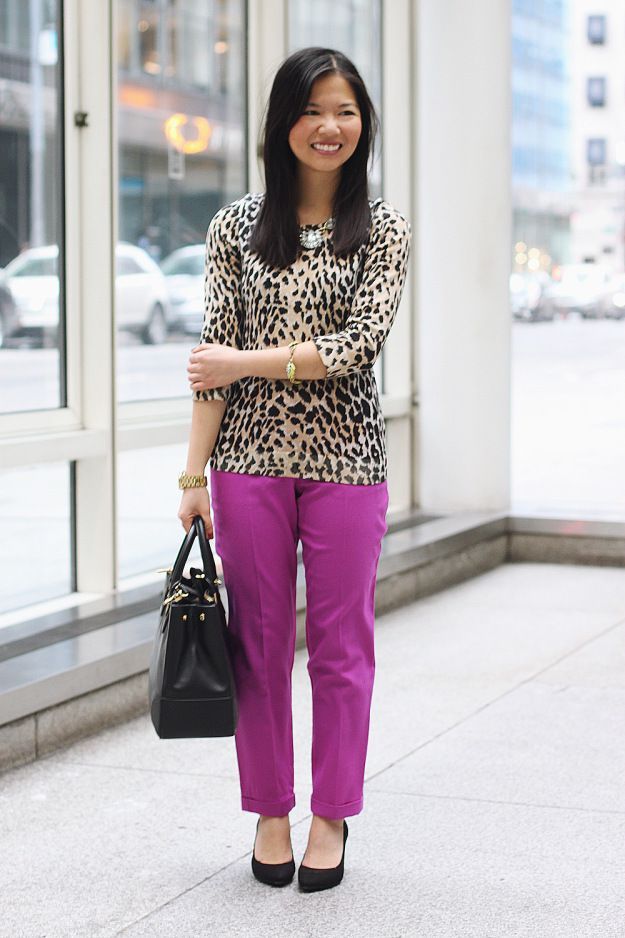 radiant orchid and leopard, grounded with black