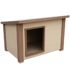 Eco friendly super insulated rustic lodge dog house