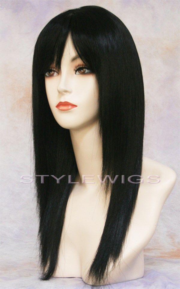 Jet Black Half Wigs 71