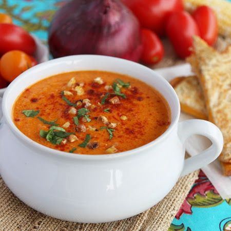 Roasted Sweet Corn and Tomato Soup | Food | Pinterest
