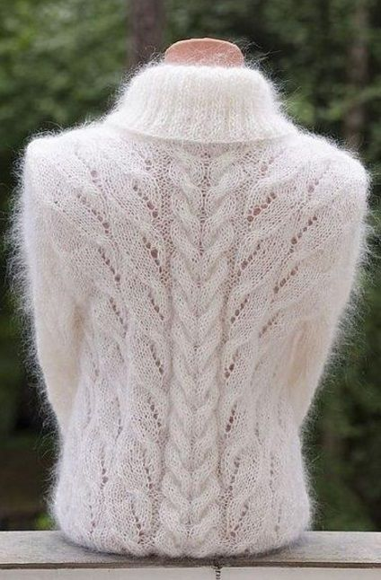Узор для вязания спицами женского свитера