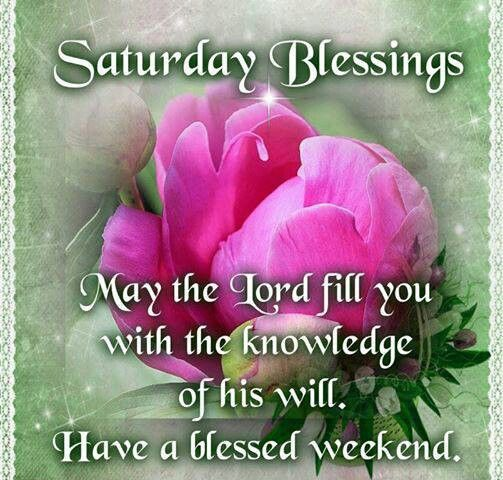 Saturday blessi... Have A Blessed Weekend Quotes