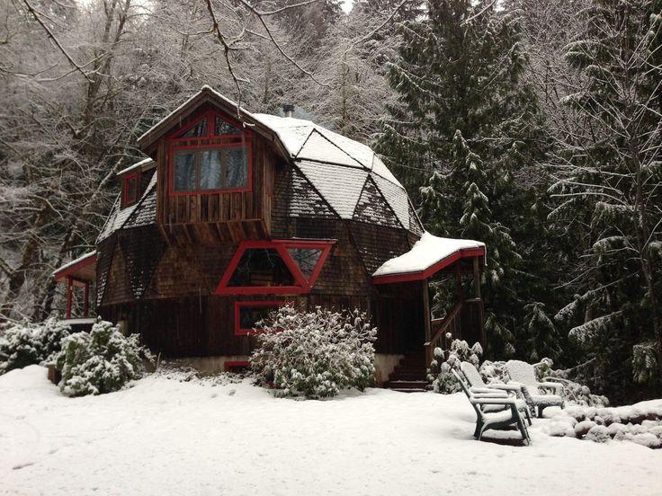 Geodesic Cabin House Pinterest