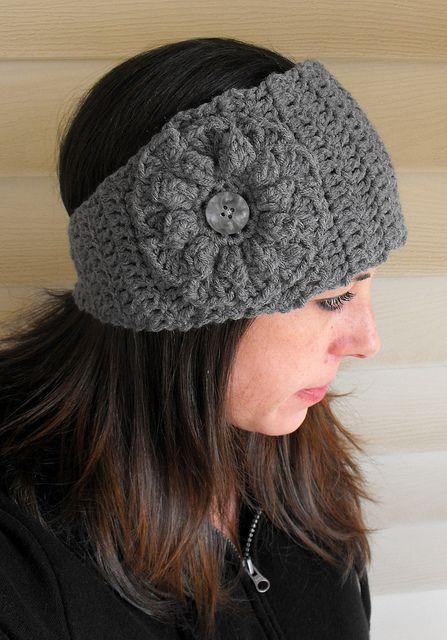 Crochet Wide Headband With Flower Free Pattern : Wide crochet headband pattern DIY Pinterest