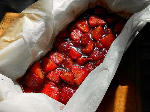 Roasted Strawberries =
