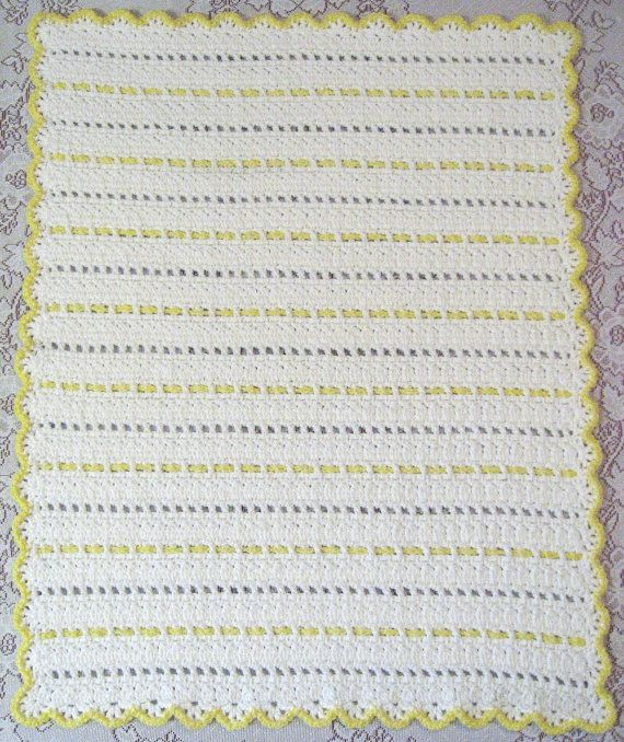 Free Crochet Pattern For You Are My Sunshine Blanket : PDF Pattern Crocheted Baby Afghan, CAR SEAT Size and ...
