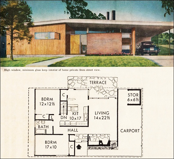 Atomic ranch house plans atomic ranch house plan simple for Atomic ranch floor plans
