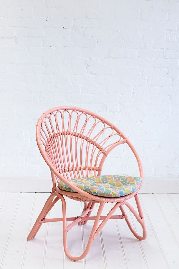 rattan round chair peach decor pinterest