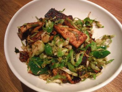 Caramelized Tofu and Brussels Sprouts | Food | Pinterest