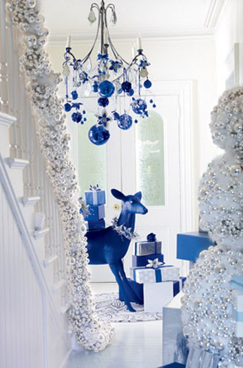 Decorating Ideas > White And Blue Christmas  Holidays  Pinterest ~ 105120_Christmas Decoration Ideas Blue