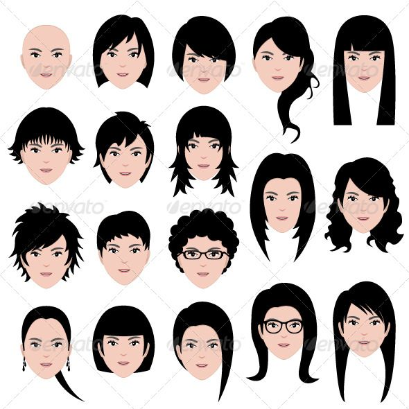 Hairstyles for different face shapes | Hair styles I like | Pinterest