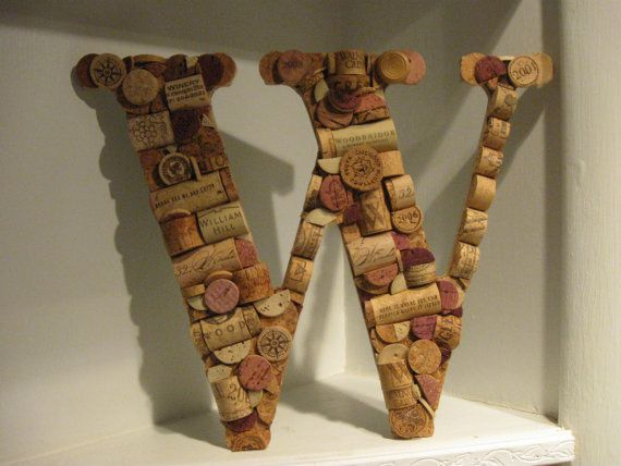Wine cork letter w for Cool things to do with wine corks