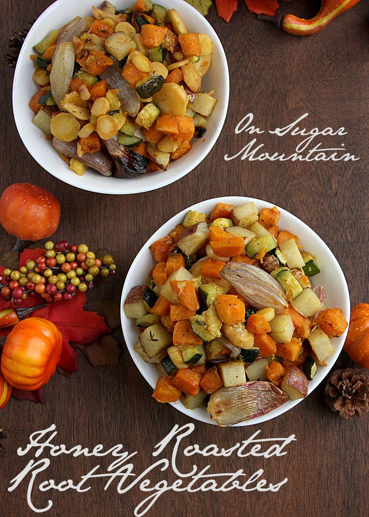 Honey Roasted Root Vegetables - On Sugar Mountain