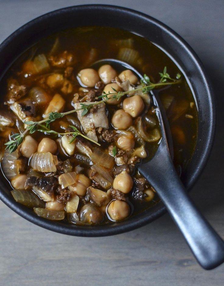 Chorizo Soup with Shiitake Mushrooms & Chickpeas. Chorizo can be ...