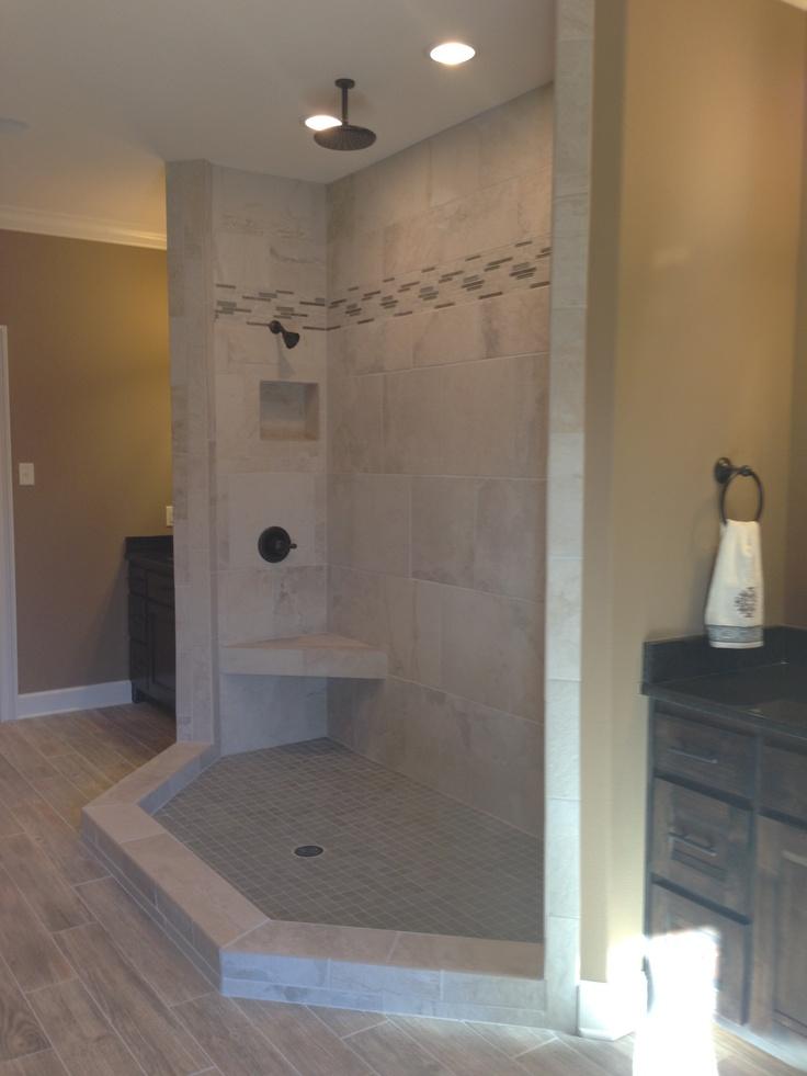 No Glass Open Shower Home Sweet Home Pinterest