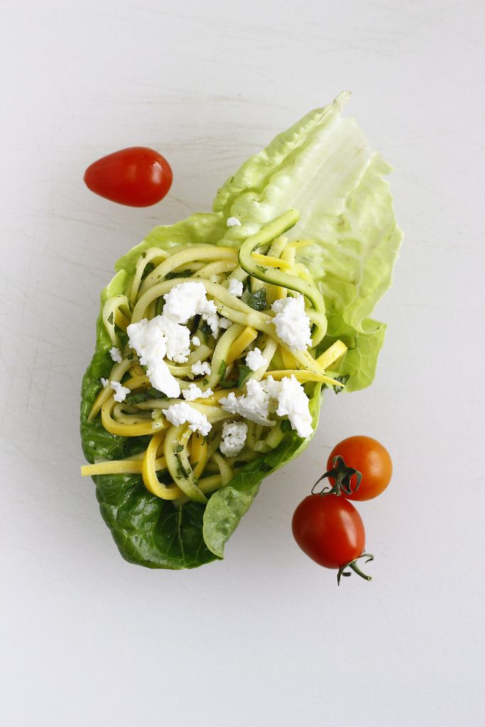summer squash salad with little gems | CULINARY loves | Pinterest